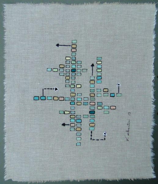 Abstraction poudrée one tableau abstrait Valérie Parent-Albertosi artiste peintre val d'oise 2013 mini