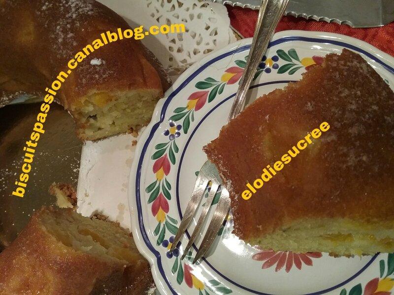 BUNDT CAKE AUX PÊCHES 042