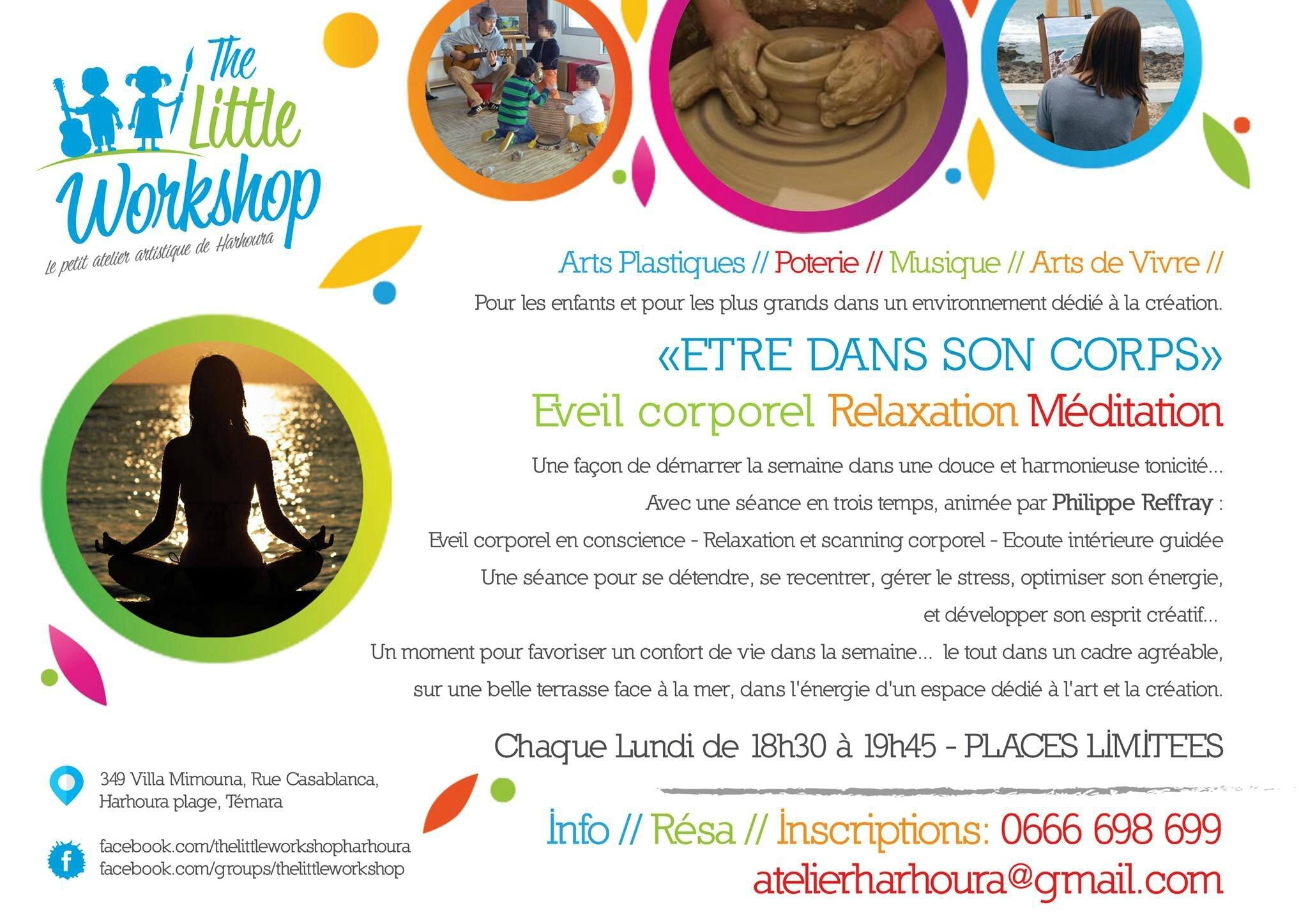 relaxation, méditation - à Lharhoura, près de Rabat