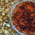Tarte sale betteraves, carottes, millet et cumin 