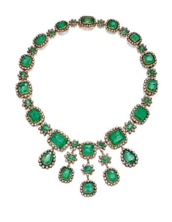 SILVER_TOPPED_GOLD__EMERALD_AND_DIAMOND_NECKLACE_