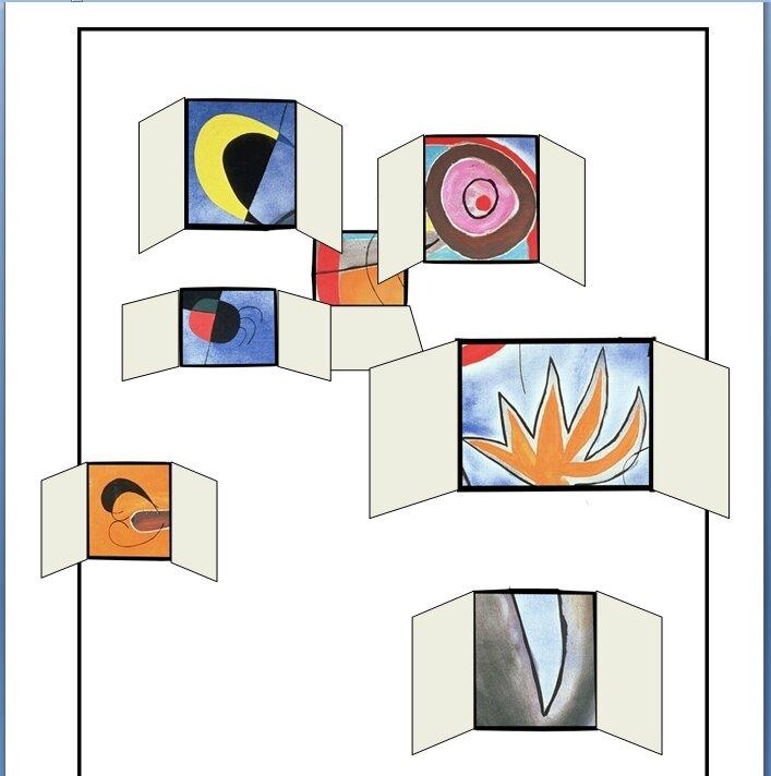 Poster echelles en roues de feu traversant l'azur(fenêtres ouvertes)