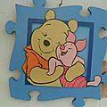 Cadre puzzle winnie