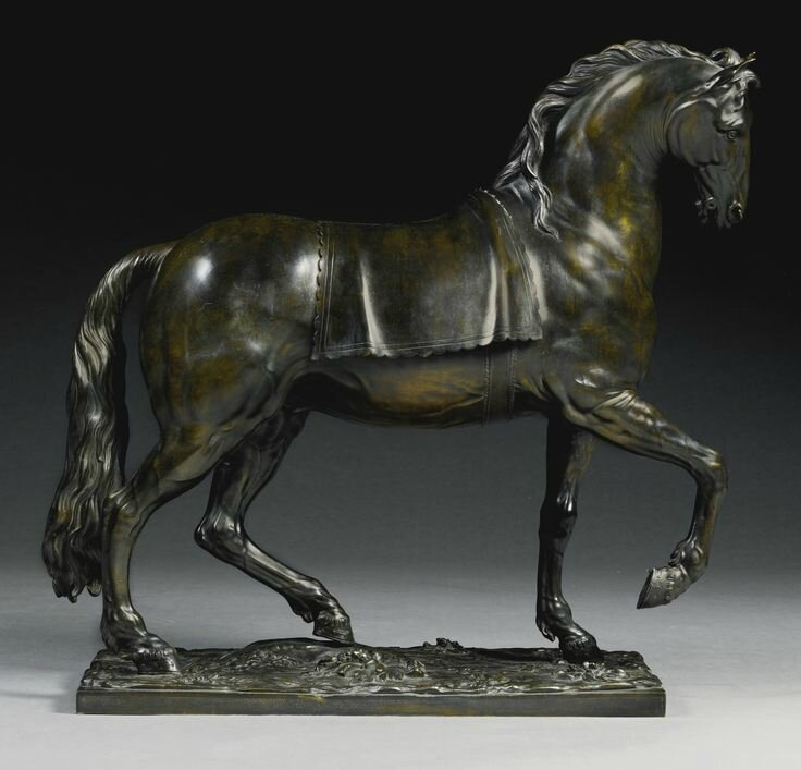 French, late 18th century, After a model attributed to Antoine Coysevox, Pacing horse.