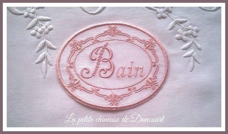 Médaillon Lise Bain rose