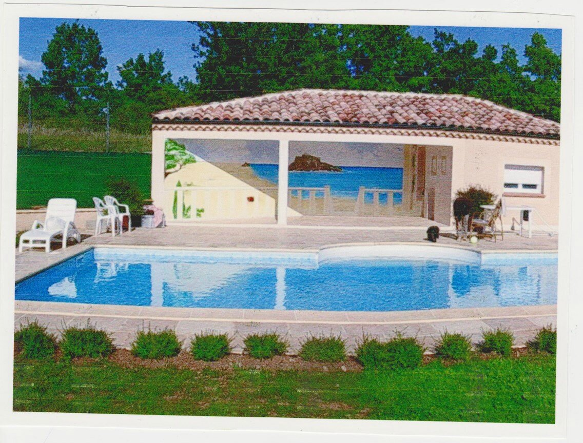 D cor final photo de piscine exterieure genevi ve for Decoration piscine exterieure