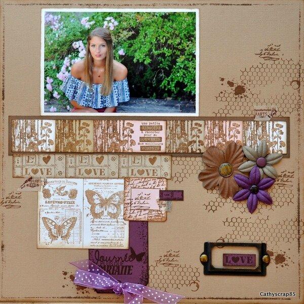 """Une page """" Journée plus que parfaite"""" par Cathyscrap85"""