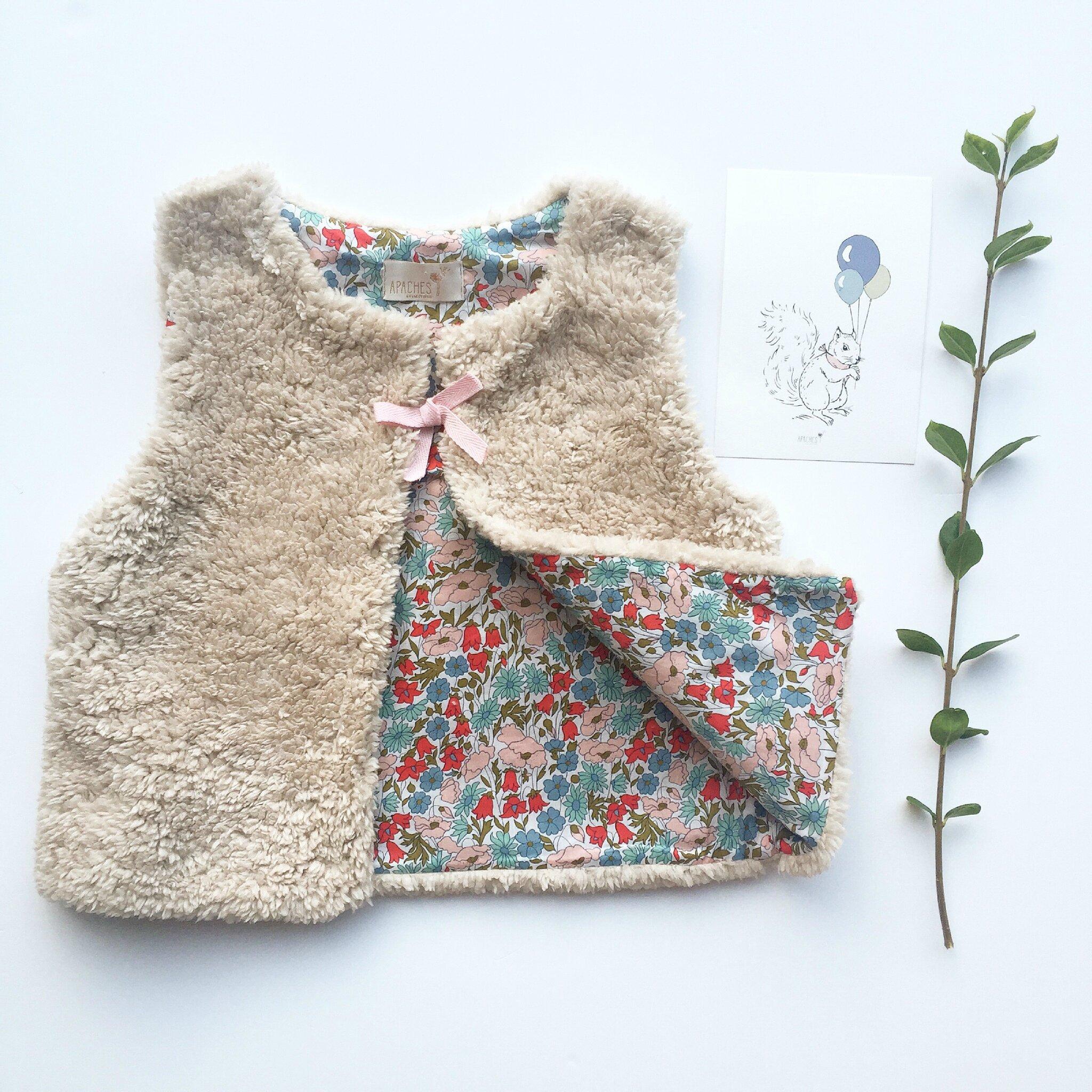 Gilet Sakari - Liberty poppy & daisy blush
