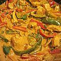 Emincés de poulet aux poivrons et paprika