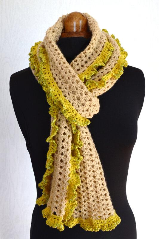 Echarpe volantée-laine-crochet-La chouette bricole (21)
