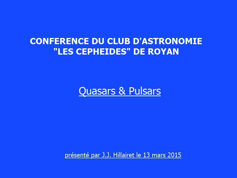 titre conference Quasars