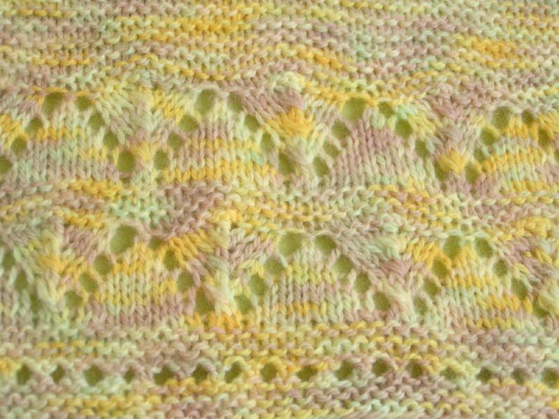 comment tricoter rang trou trou