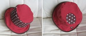 chapeau_rouge_marron_pois