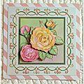 carte Brodée rose 2