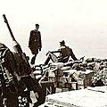 La défense antiaérienne allemande au sommet de la Rhune Affut double de 37 mm contre avion