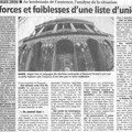 Forces et faiblesses d'une liste d'union