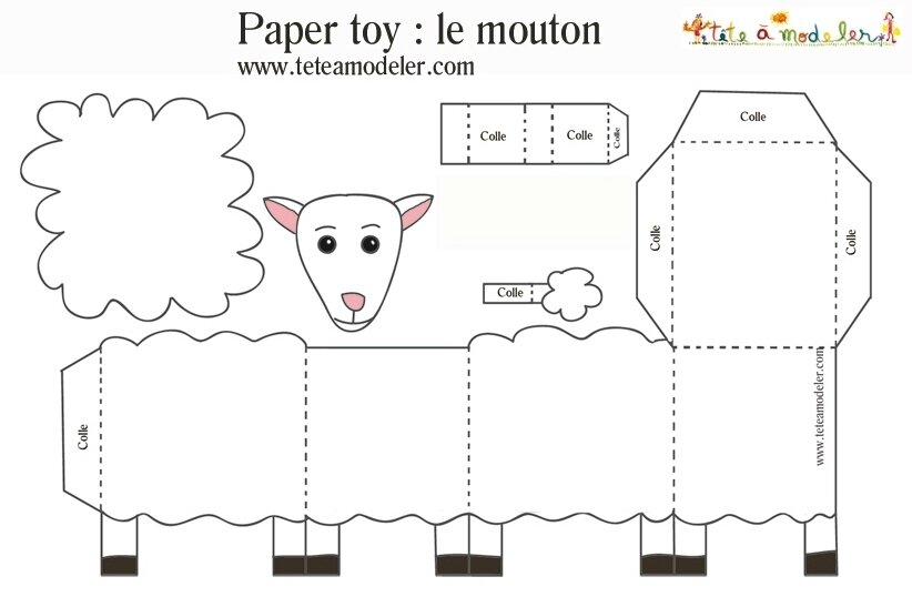 bricolage mouton carton my blog. Black Bedroom Furniture Sets. Home Design Ideas