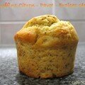 Muffins citron pavot aux fraises sches