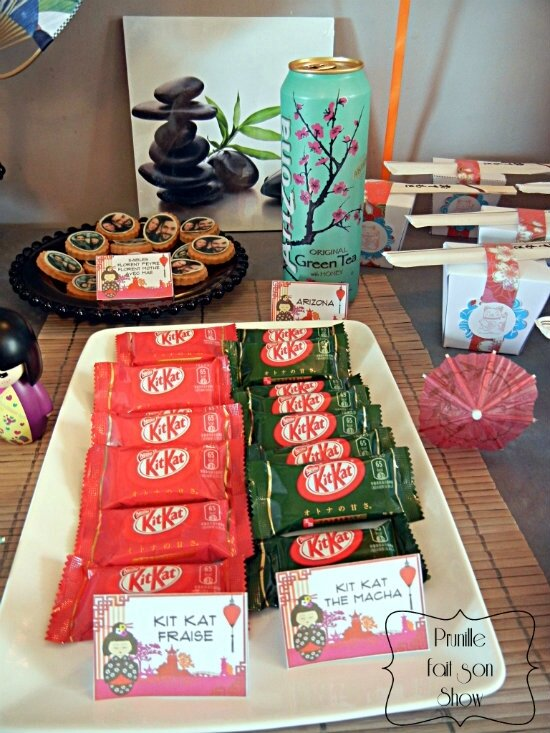 sweet table manga et japon prunillefee kit kat