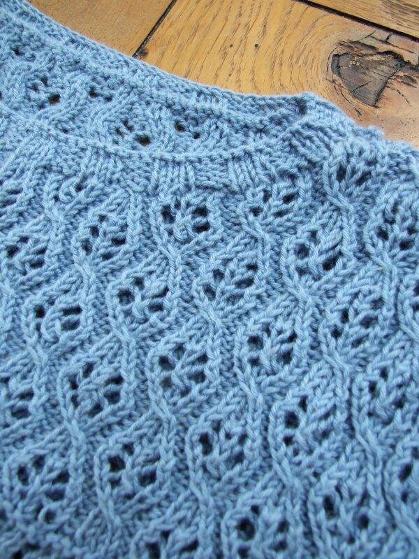 pull coton bleu