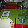 Set de table pâques point de croix