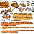Soupe orange de printemps illustrée par mlle georgette