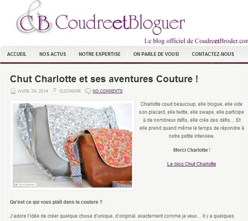 Interview Coudre & Bloguer