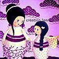 Kokeshis mère et fille