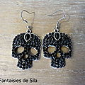 Skull&Strass noir 25 euros