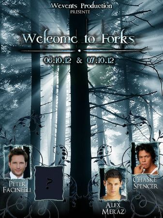 AFFICHE WELCOME TO FORKS