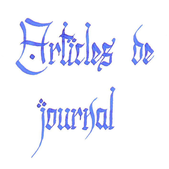 Articles de journal
