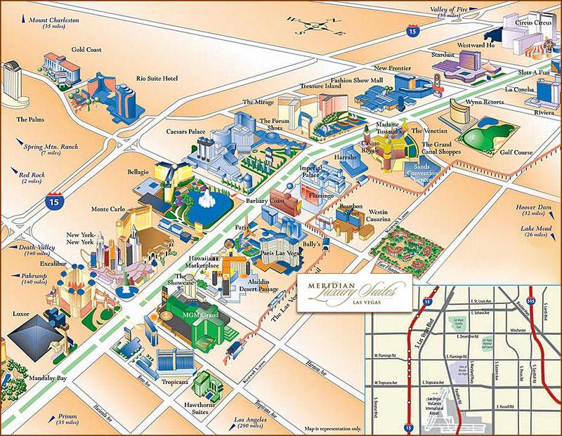 Info las vegas plan hotel for Recherche hotel sur carte