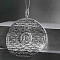 A fine diamond pendant, circa 1910