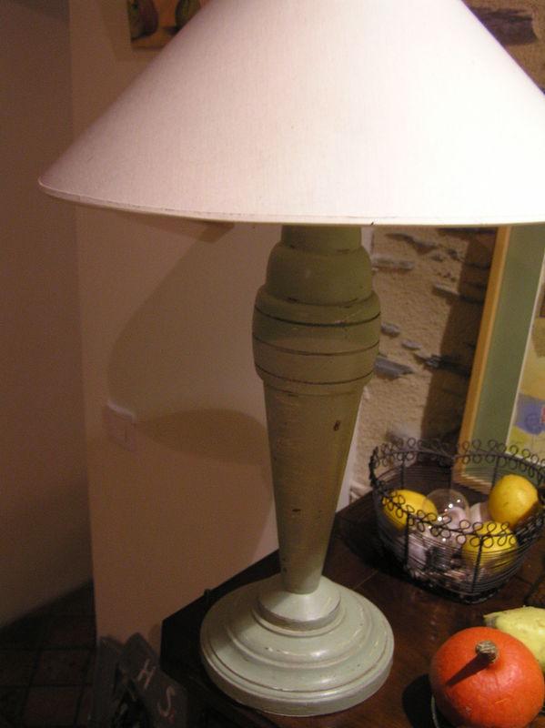 Lampe et abat jour avant apr s bricole et casserole - Repeindre un abat jour ...