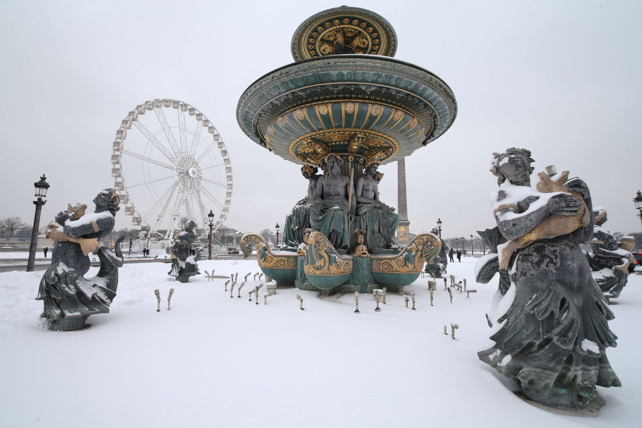 Paris sous la neige. © Photo Michel Stoupak. Sam 19.01.2013, 11:46.