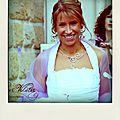 Bijoux de mariage avec perles mauves
