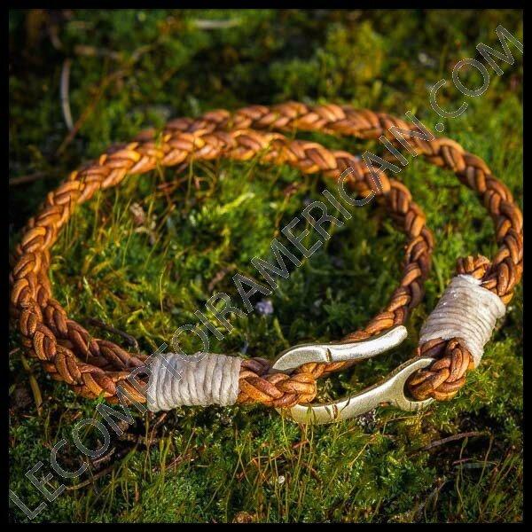 le comptoir americain bracelet cuir tresse 1