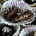 Kahlouchi biscuits chocolat farcis noix et halva turque