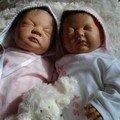 mes jumelles : LEHA et ELISA adoptées le 25 décembre