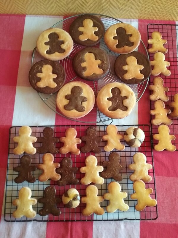 Biscuits Bonhomme vanille chocolat 044