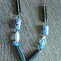 Pour changer, voici mon premier collier en perles de verre !