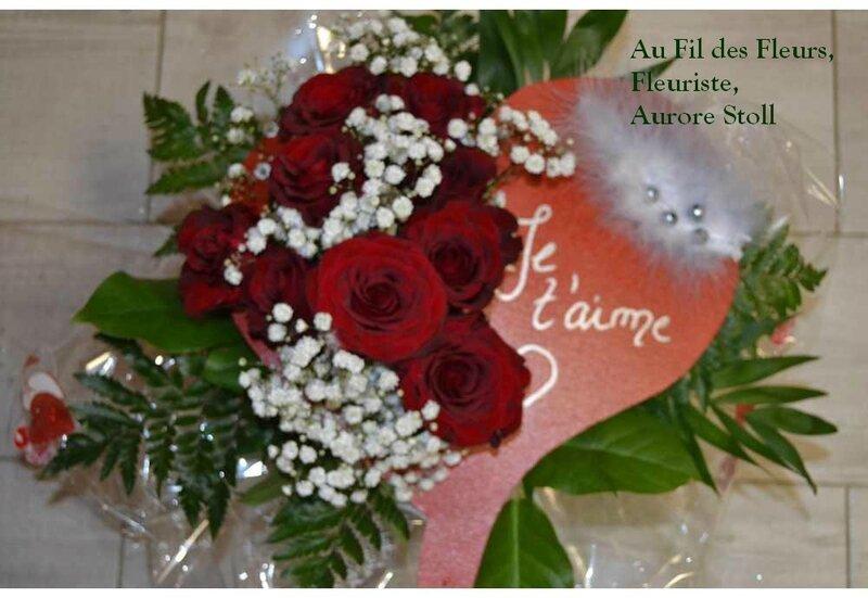 C 39 est la saint valentin superbe bouquet coeur de fleurs naturelles au - Coeur en fleurs naturelles ...