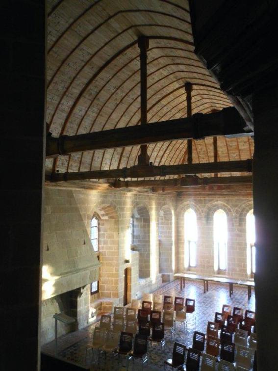 abbaye Mont-Saint-Michel 1258 salle La Belle Chaise conférence