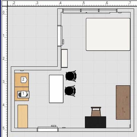 Plan amenagement studio 25m2 awesome studio paris m - Amenagement studio 25m2 ...