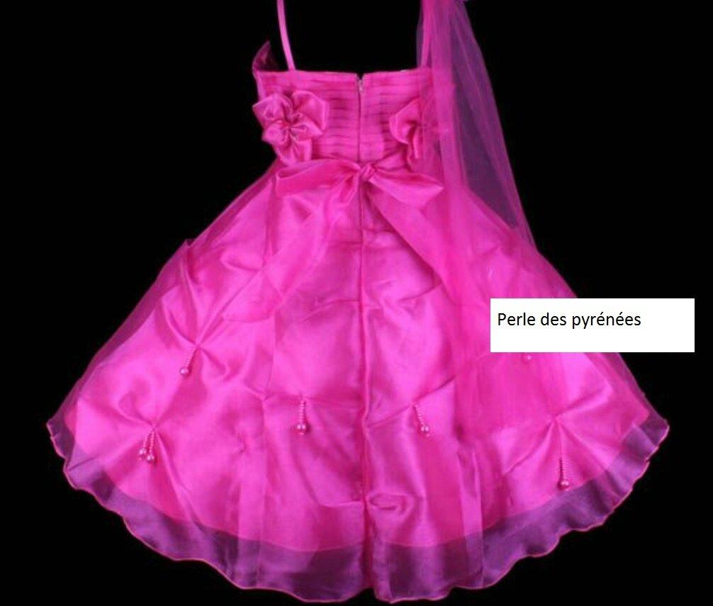 """Robe de cérémonie """"Pacific fushia"""" fillette T 5/6, T 8/9 ans, T 9/10"""