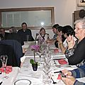 Avril 2011: le repas de l'association