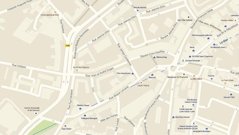 rue James-Condamin plan