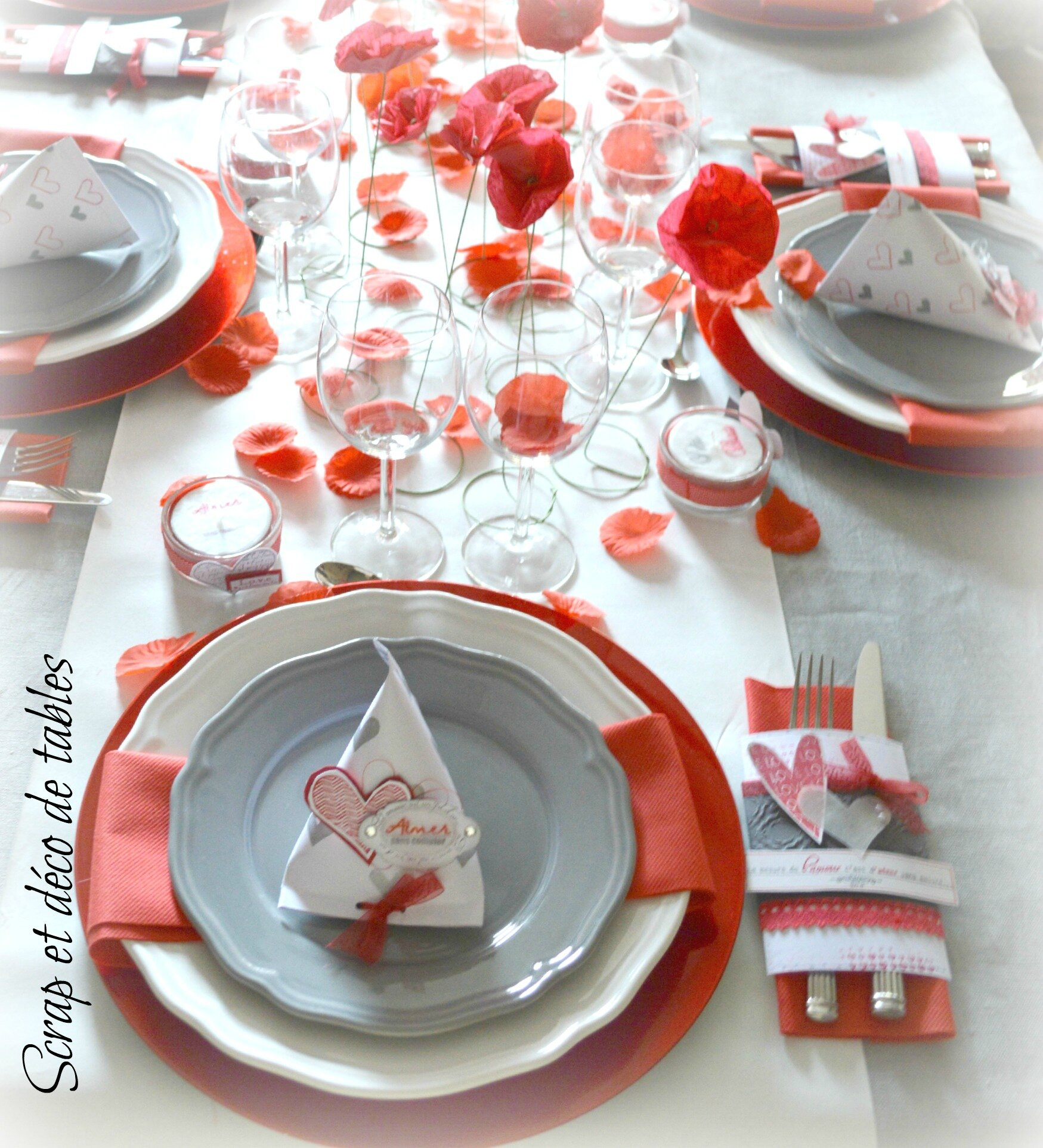 Deco de table saint valentin 2015 scrap et d co de tables - Deco de table st valentin ...