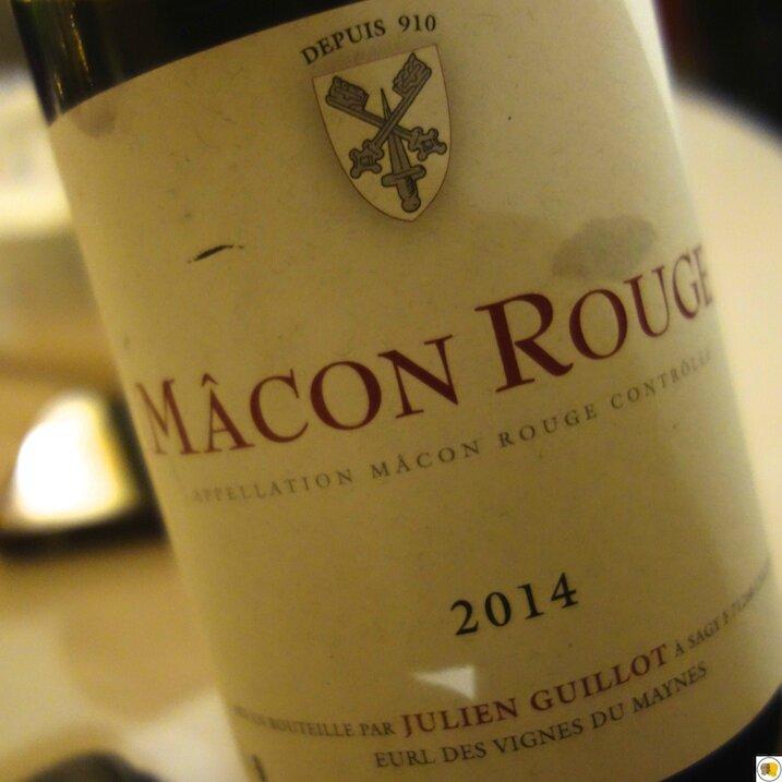 Mâcon Rouge Julien Guillot 2014