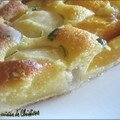 TARTE AUX PECHES ET AMANDES